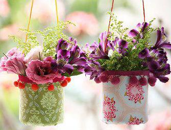 cesticas para flores reciclable