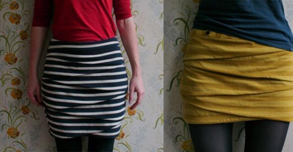 Minifalda asimétrica para el verano